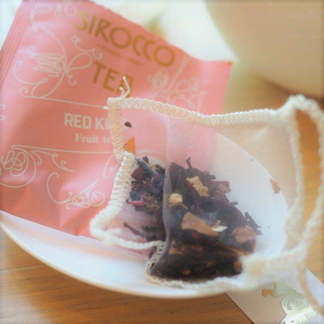 茶葉はドライフルーツたっぷりでハーブティーではなくてフルーツティーという感じでした!