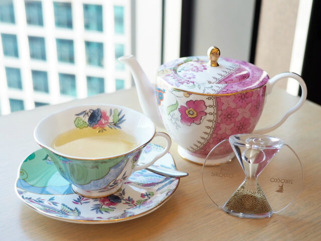 iconic shiodome peach afternoontea teaware01