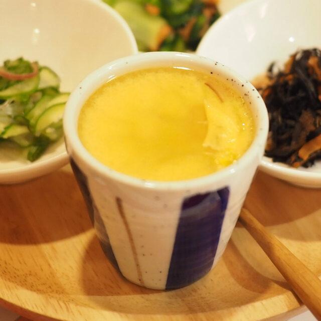 コーンとチーズの茶碗蒸し
