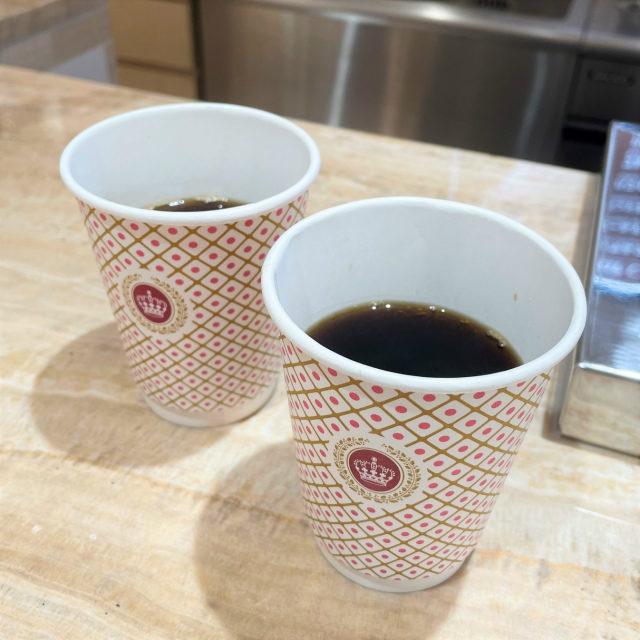 高級なゲイシャコーヒーなんだけど、ここでは300円で飲むことができます!せっかくなので私もいただきました!
