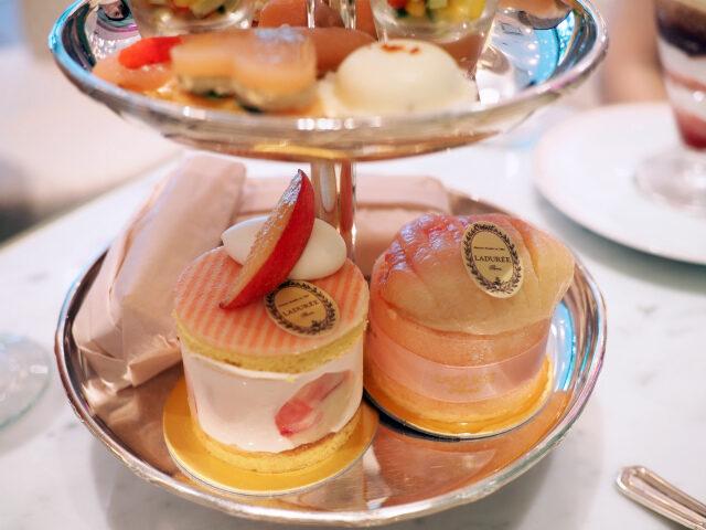 laduree peach afternoontea pastry01