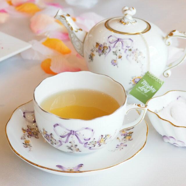 ホワイトオーチャード 緑茶をベースに、メロンとピーチの香りを着けたフルーティーなフレーバーティー