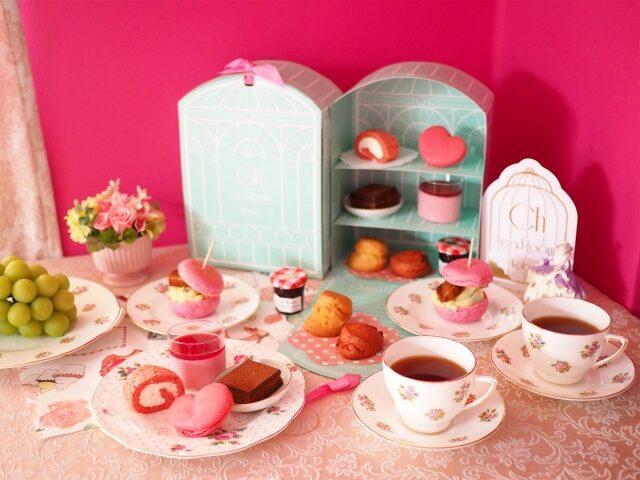 チェスティのティールーム「ChTeaRoomKobe」のお取り寄せアフタヌーンティー「weet Home Afternoon Tea Set」