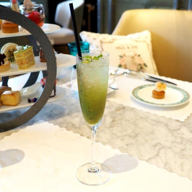 Ivy Green キウイのピューレとシロップにココナッツシロップも加え、ジンジャーエールで割ったモクテル。