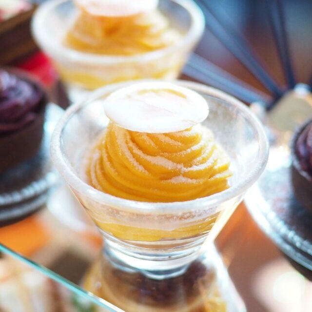 今回、一番のお気に入りはかぼちゃクリームのモンブランクリーミーで柔らかいカボチャクリームがとっても美味しかった♪