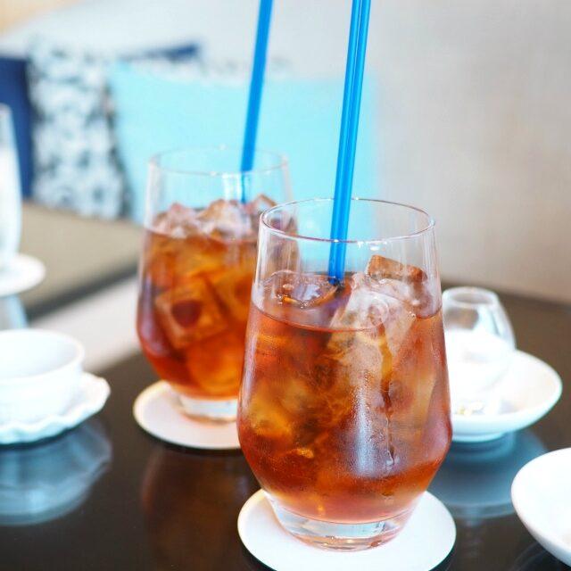 アイスオーガニックジンジャーピーチジンジャーはほんのりで飲みやすいアイスティーでした。
